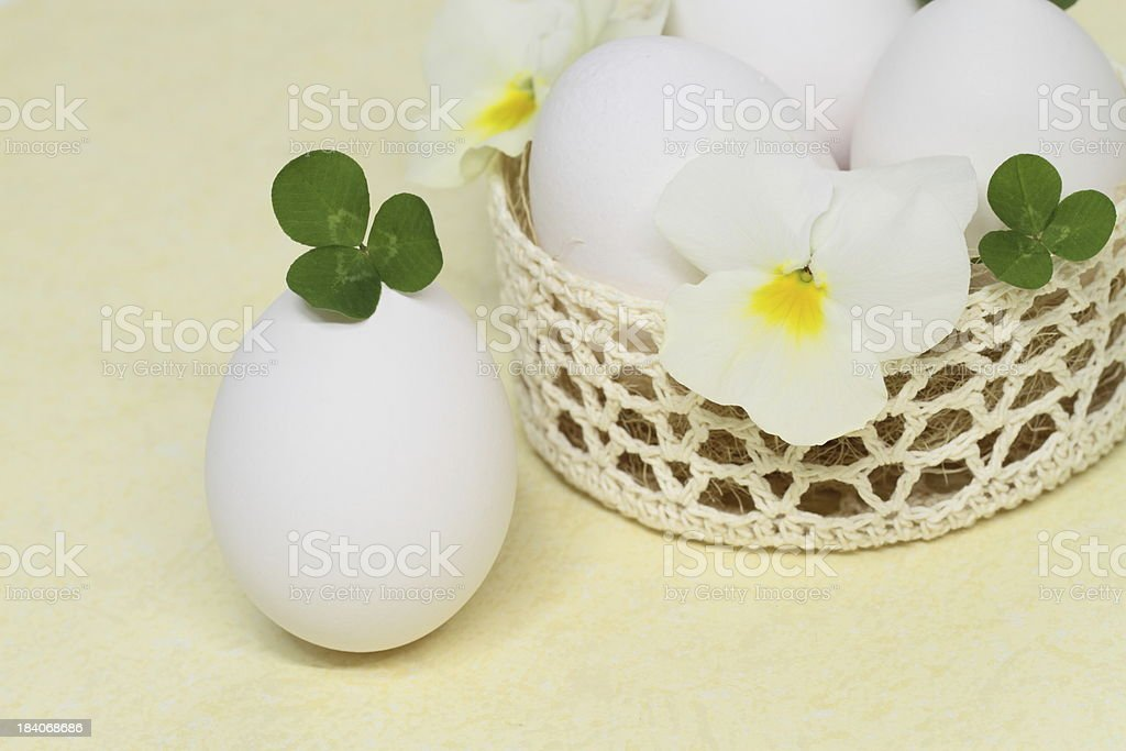 Arrangement of the Easter egg royalty-free stock photo