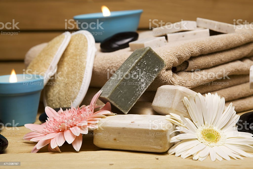 Arrangement of the health spa equipments royalty-free stock photo