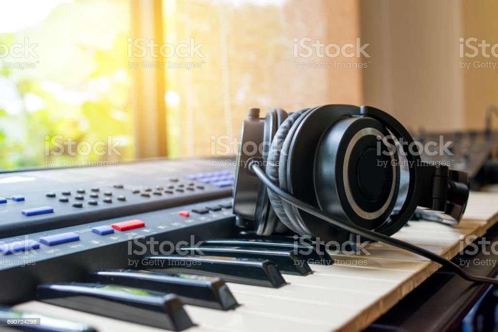 Arranging a new song . stock photo