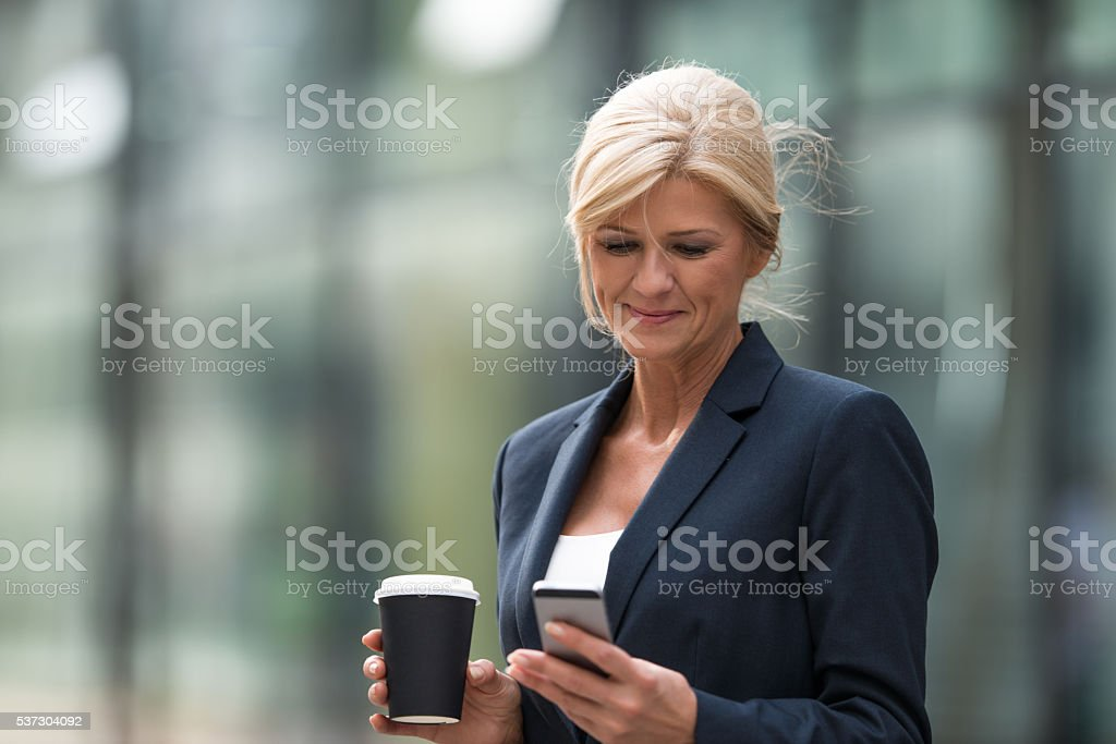 Arranging her workday stock photo
