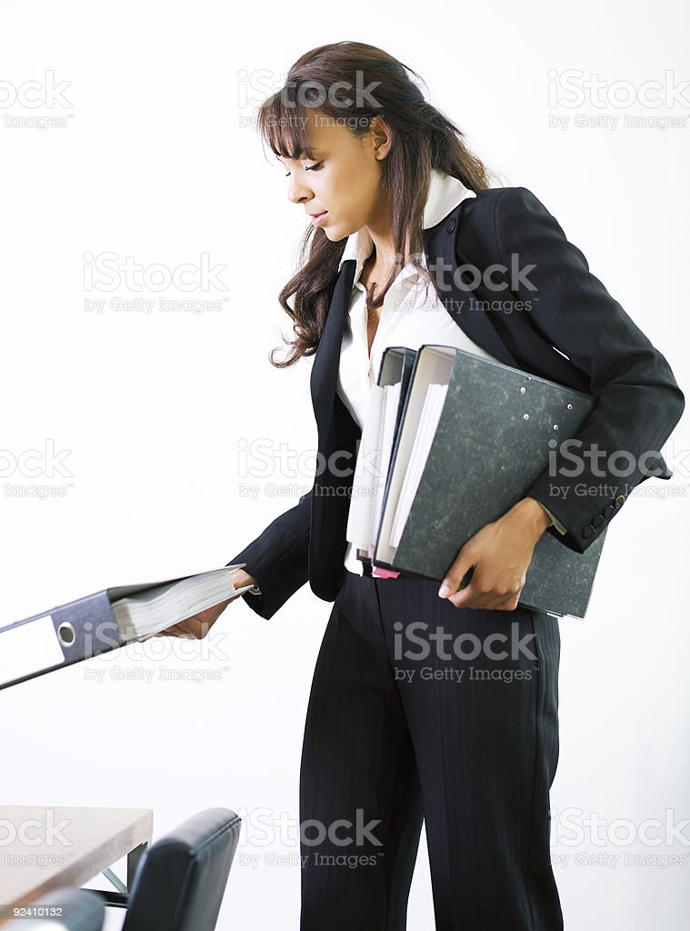 Arranging the conference stock photo