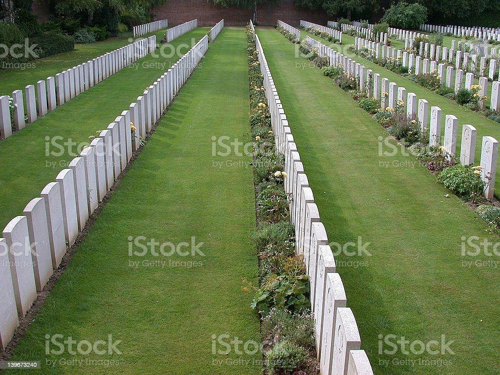 Arras, military cemetery stock photo