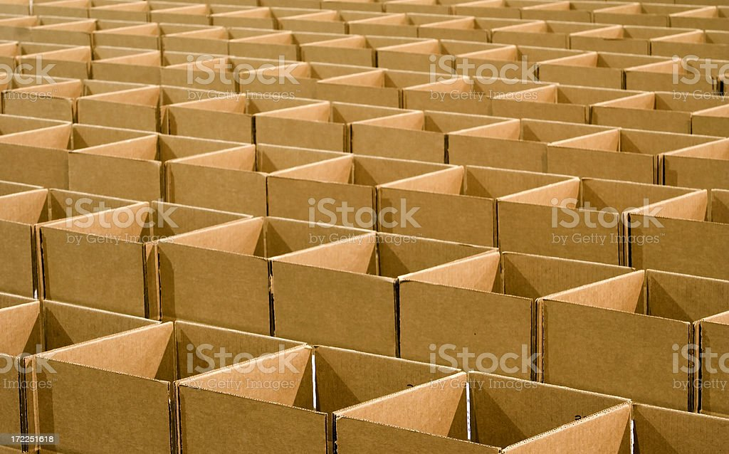 Array of Cardboard Boxes royalty-free stock photo