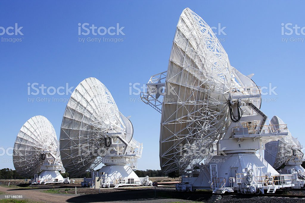 array of deep space telescopes royalty-free stock photo