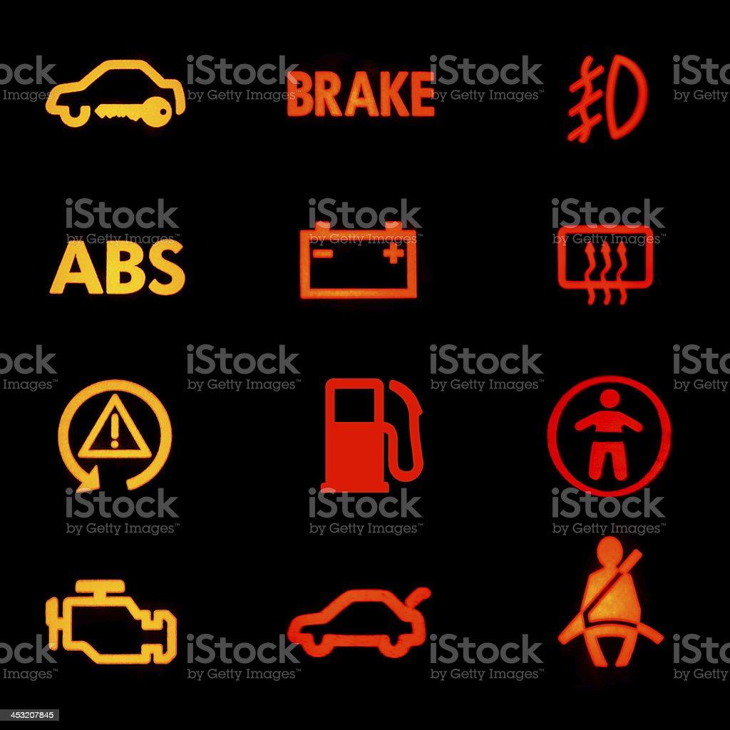 Armaturenbrett symbole  Dashboard Symbole Stockfoto 453207845 | iStock