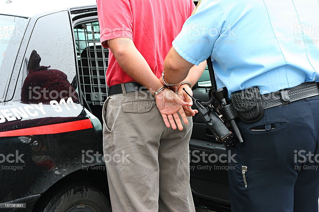 Arrest 4 royalty-free stock photo