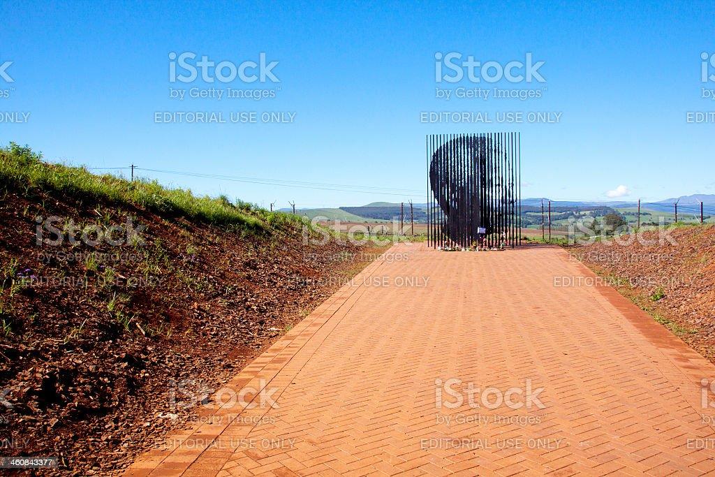 Arrest Site Of Nelson Mandela In Howick, KwaZulu-Natal stock photo