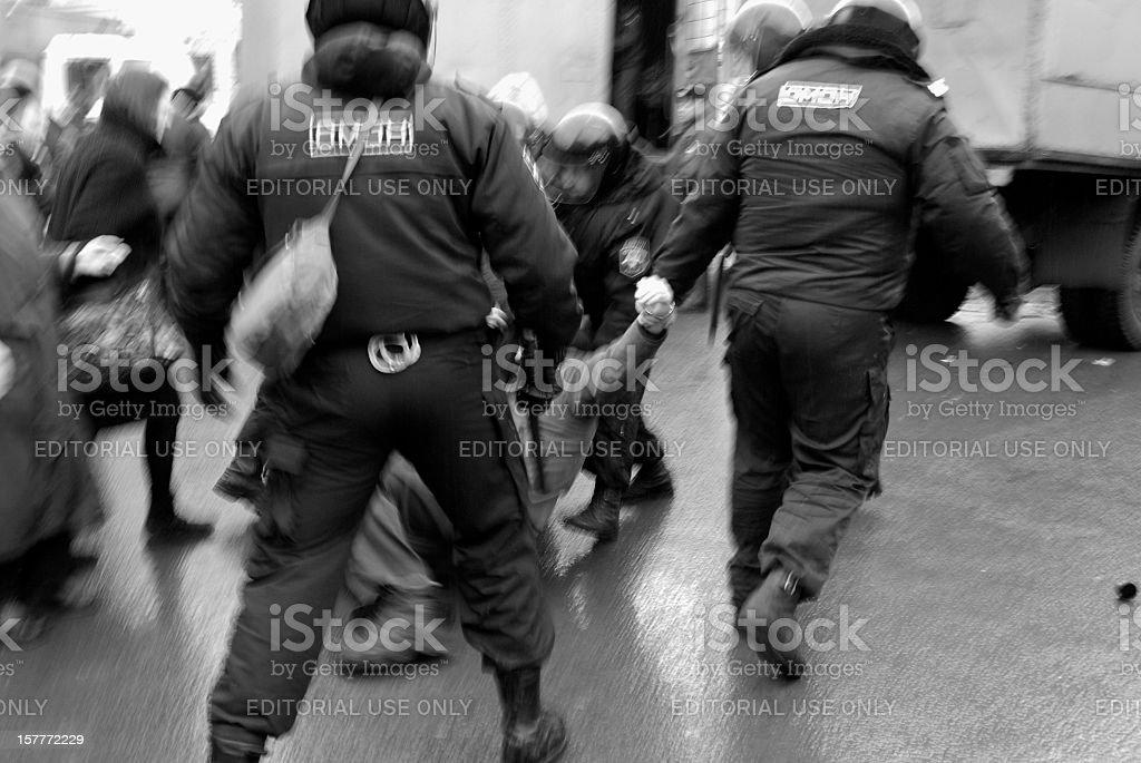 Arrestation violente stock photo