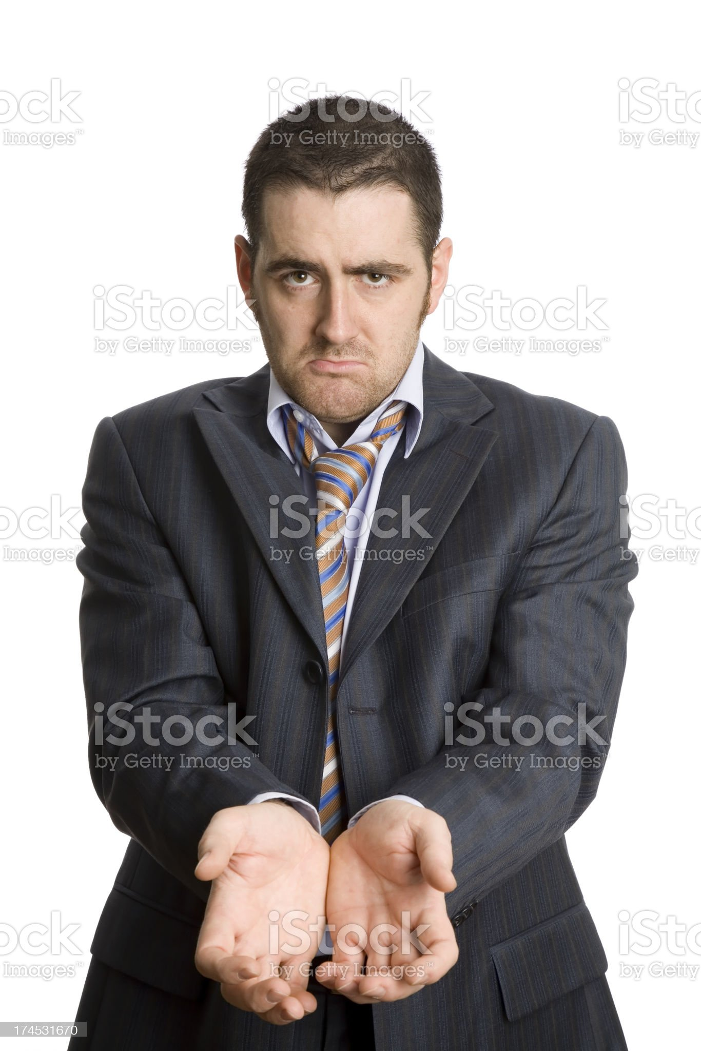 Arrested business man royalty-free stock photo