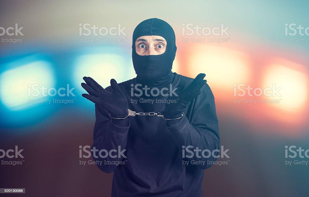Arrested criminal stock photo