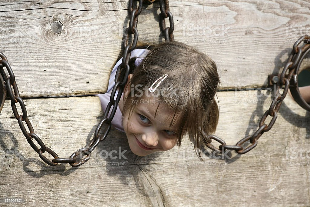 Arrested girl royalty-free stock photo