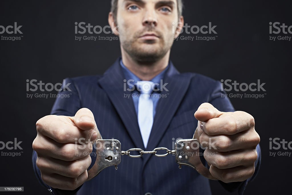 Arrested man royalty-free stock photo