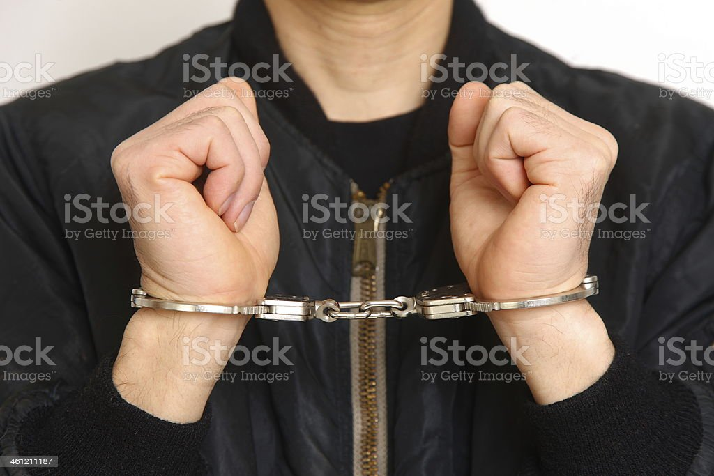 arrested man stock photo