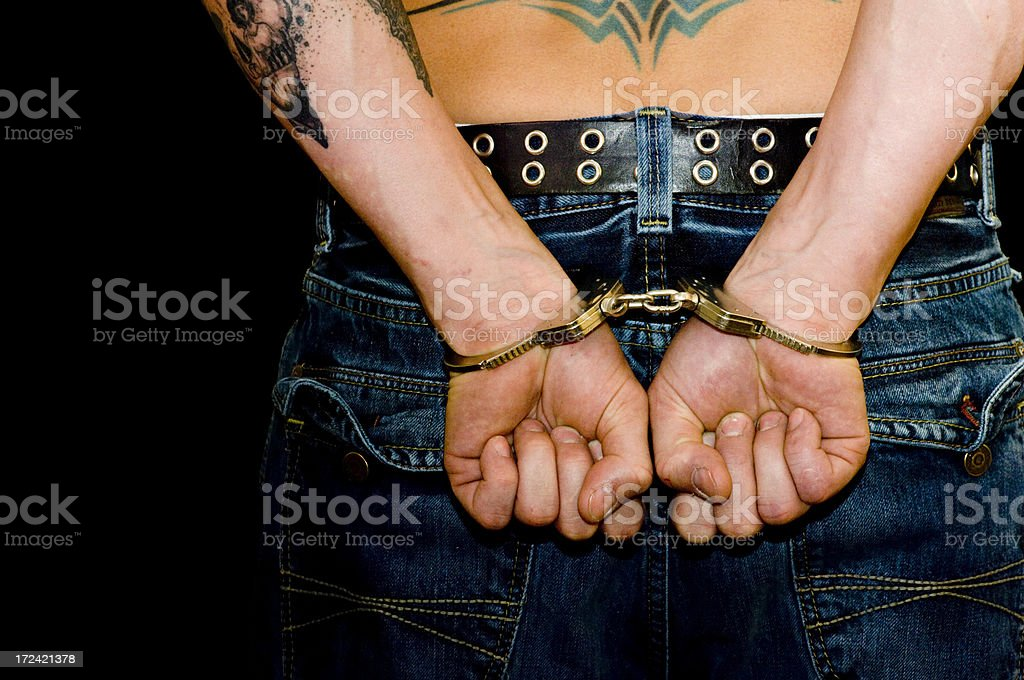 Arrested royalty-free stock photo