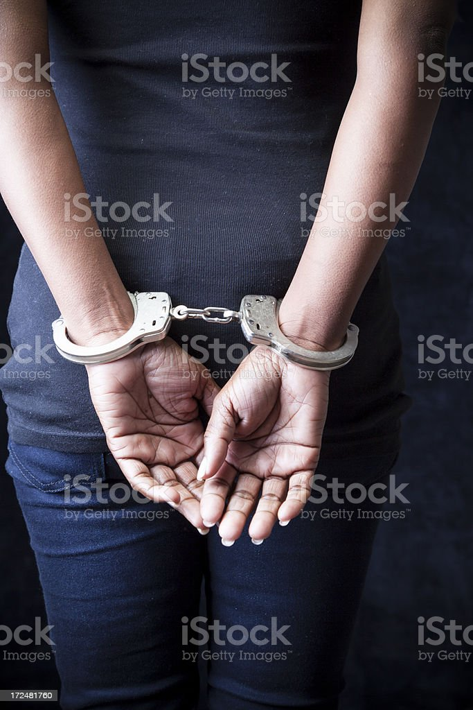 Arrested stock photo