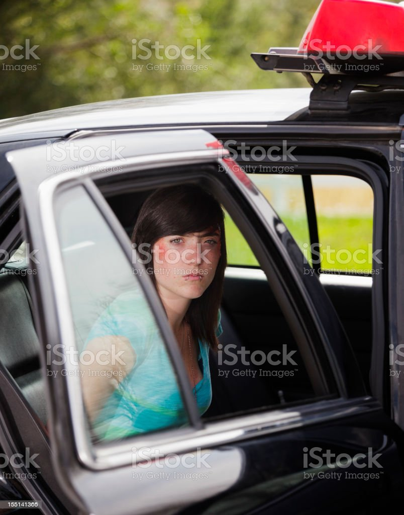 Arrested Teenager royalty-free stock photo