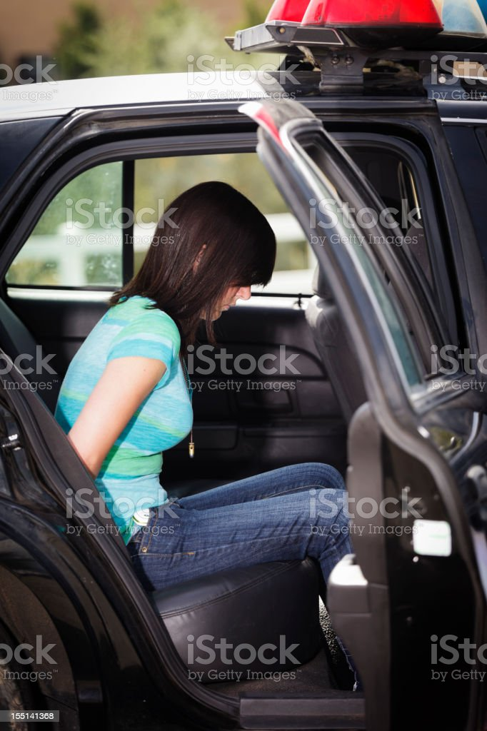 Arrested Teenager stock photo