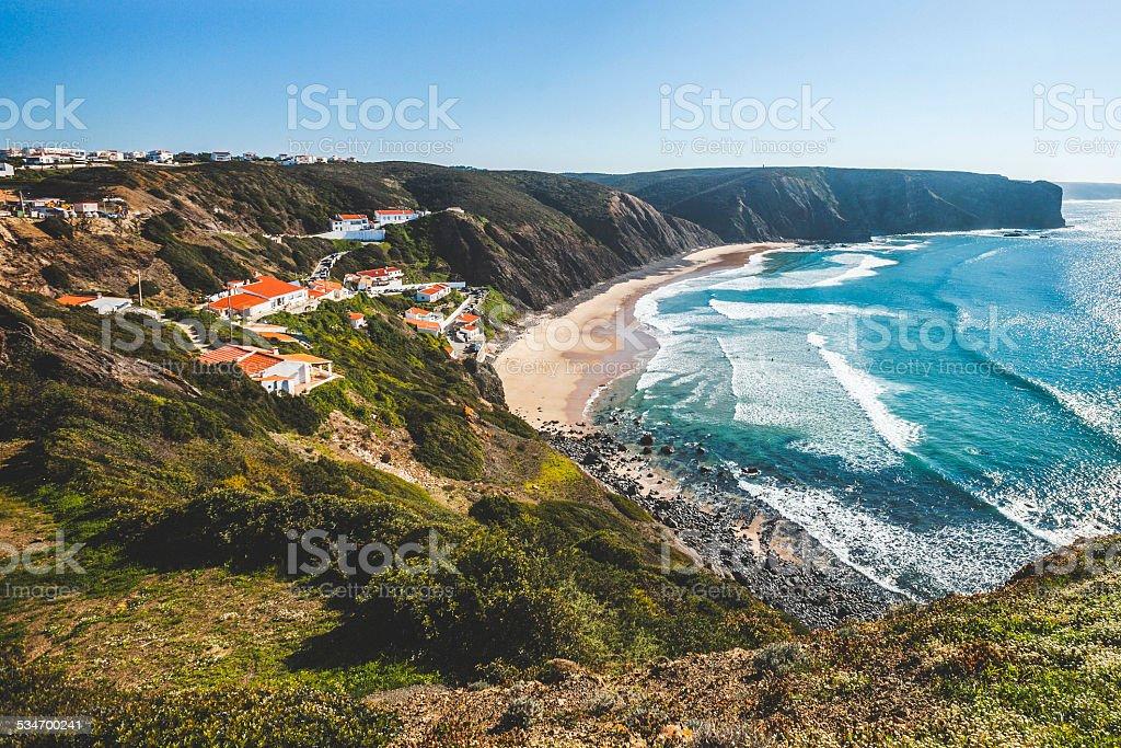 Arrifana beach. stock photo
