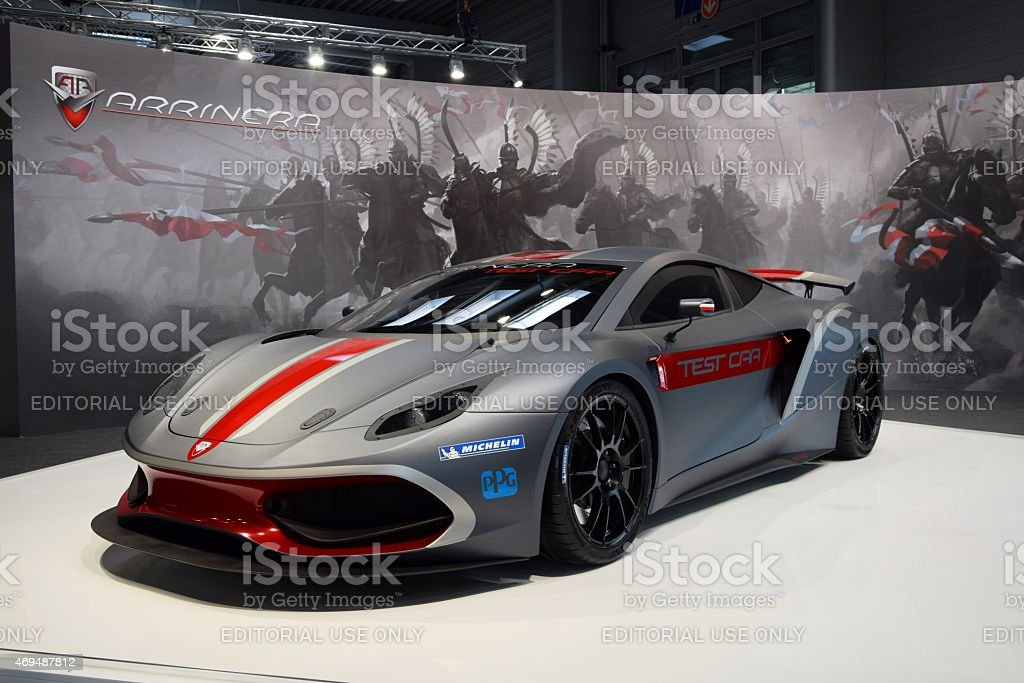 Arrinera Hussarya on the motor show stock photo