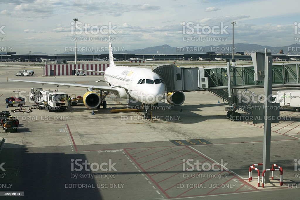arrival at destination country stock photo
