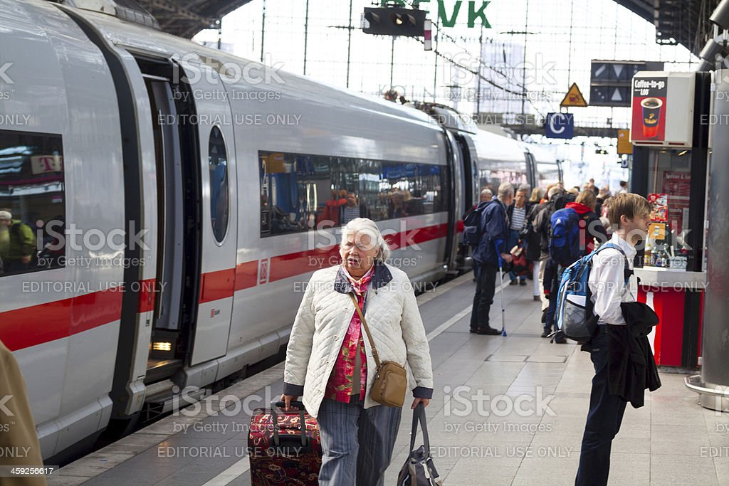 Arrival Cologne station royalty-free stock photo