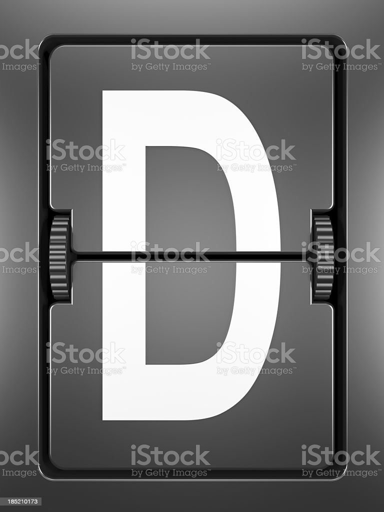 Arrival Departue Board royalty-free stock photo