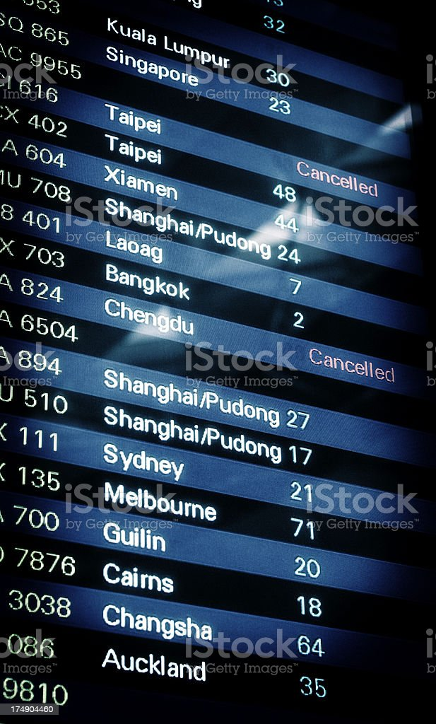 Arrival Departure Board royalty-free stock photo
