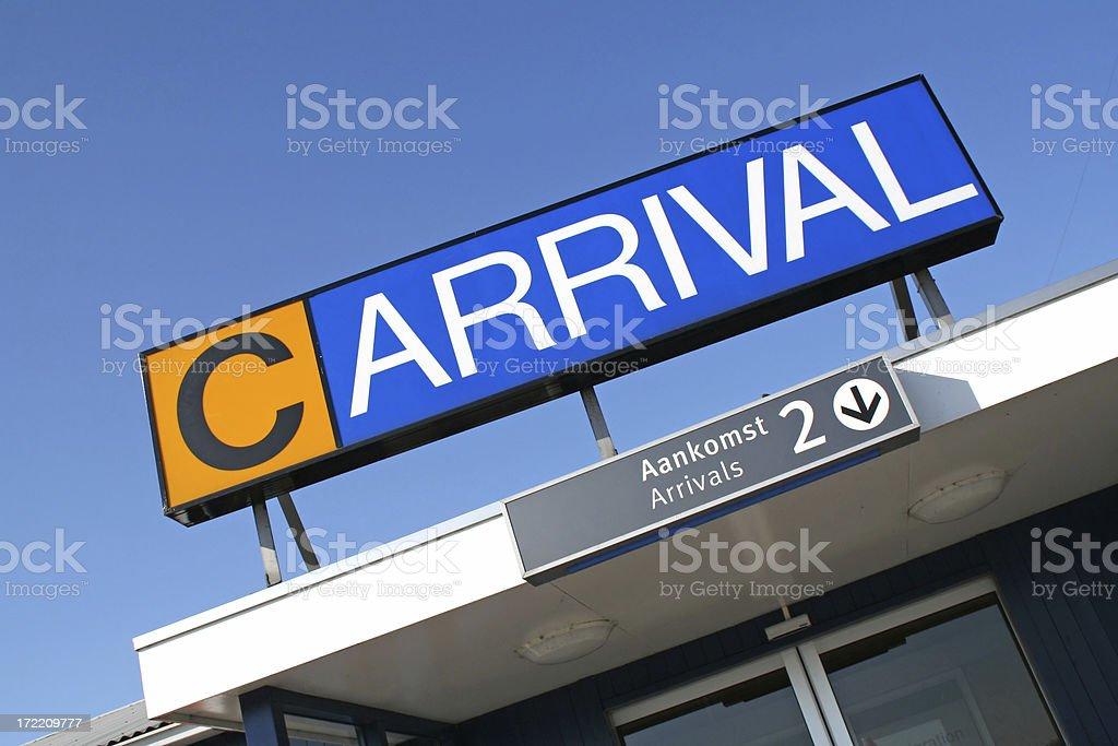 Arrival gate of airport royalty-free stock photo