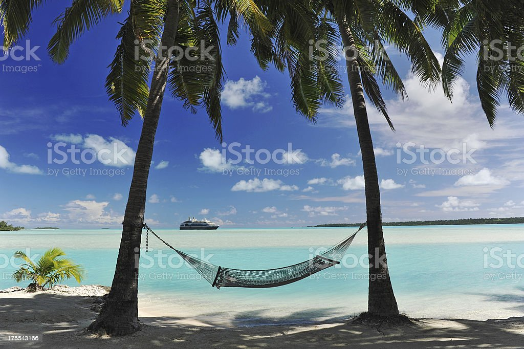 Arrival in Paradise royalty-free stock photo