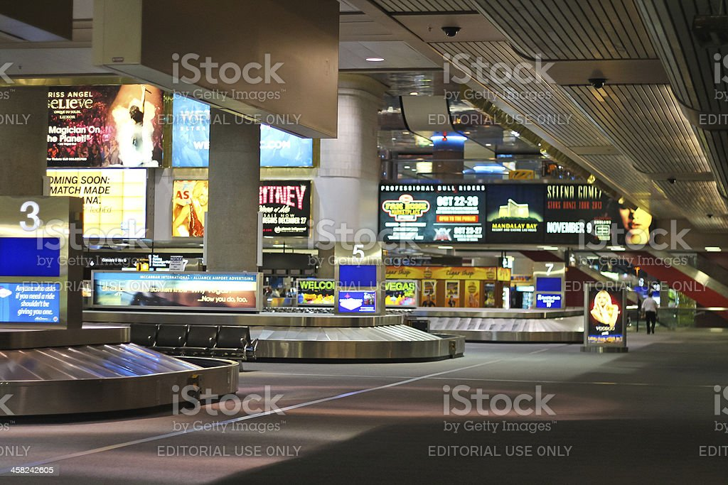 Arrival lounge in the airport McCarran . Las Vegas, Nevada stock photo