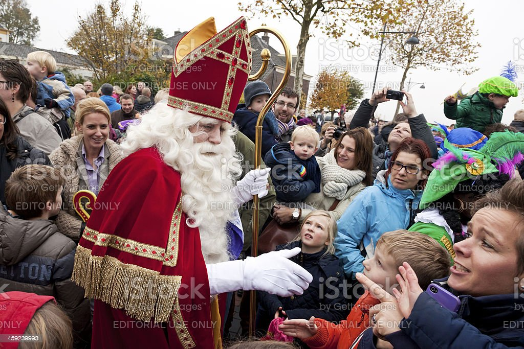 Arrival of Sinterklaas  5 XXL stock photo