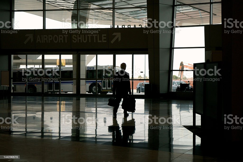 arrival or departure at  travel destination stock photo