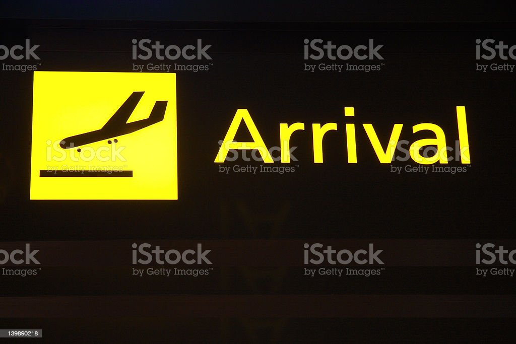 Arrival royalty-free stock photo