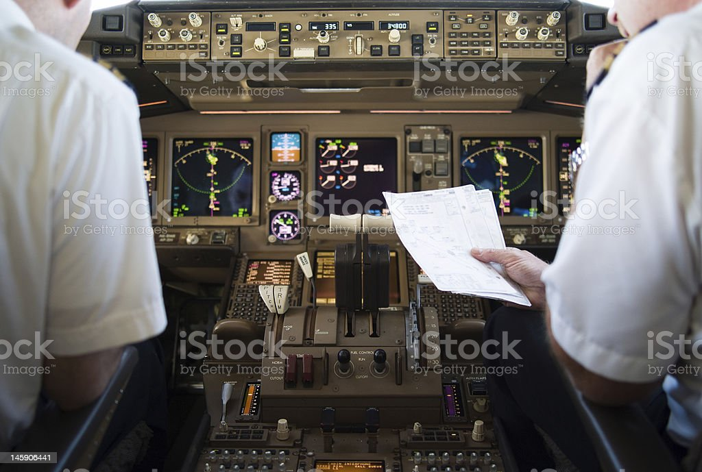 Arrival Route Check stock photo