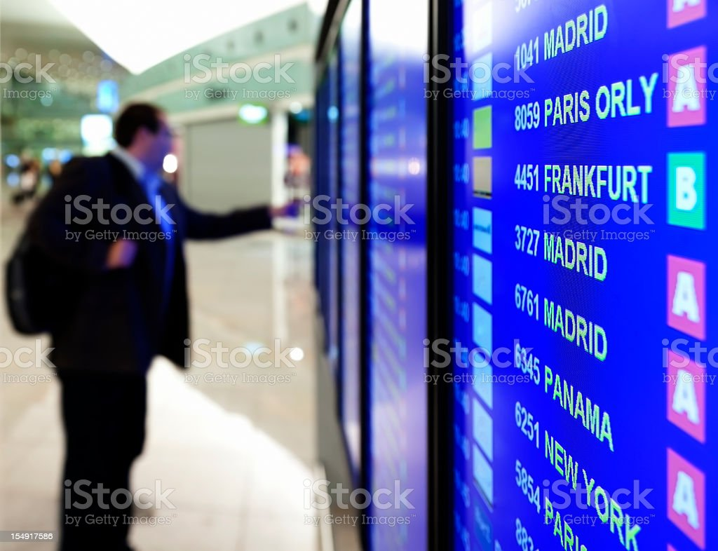 Arrival/Departure Board royalty-free stock photo