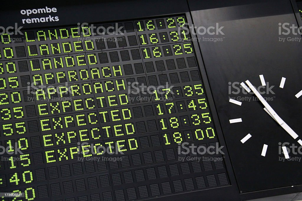 Arrival-departure board royalty-free stock photo
