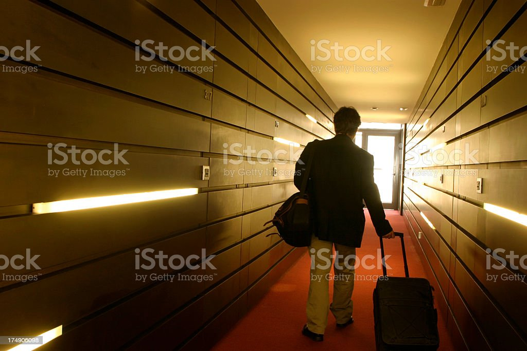 Arrivals and departure stock photo