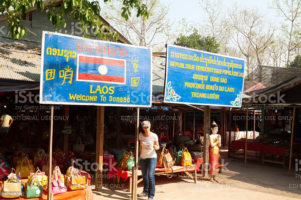 Arrived in Laos royalty-free stock photo