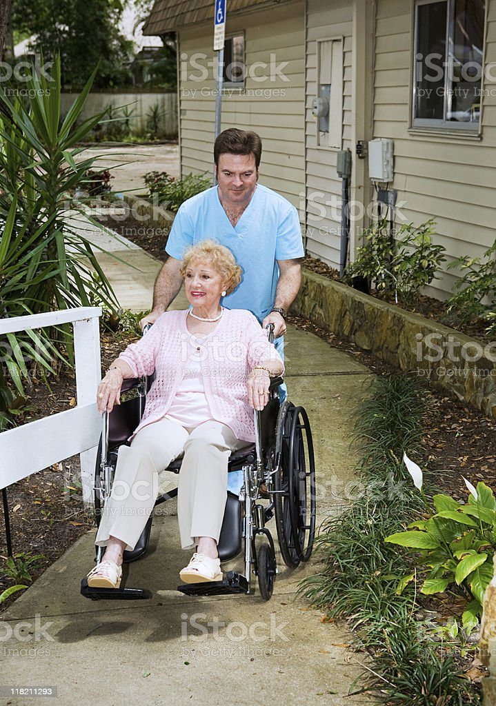 Arriving at the Nursing Home royalty-free stock photo