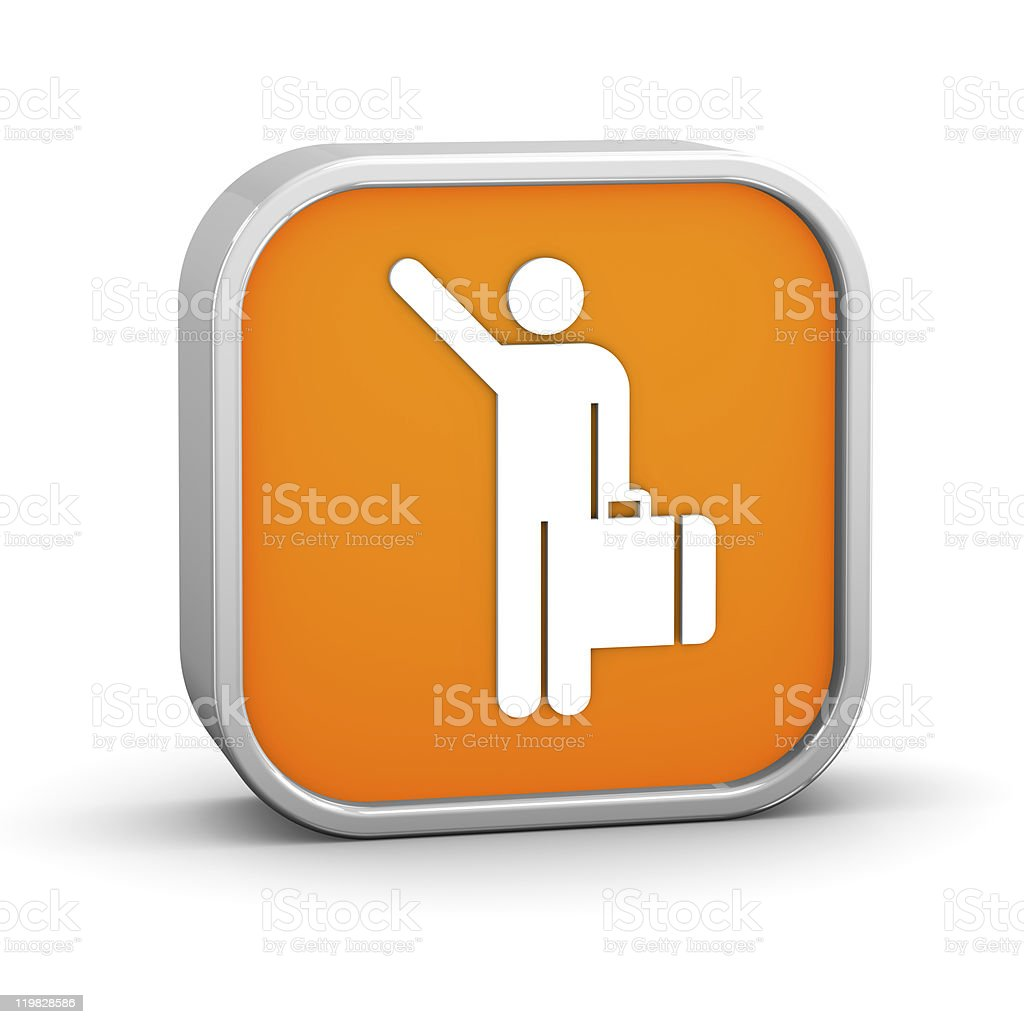 Arriving Flights Sign royalty-free stock photo