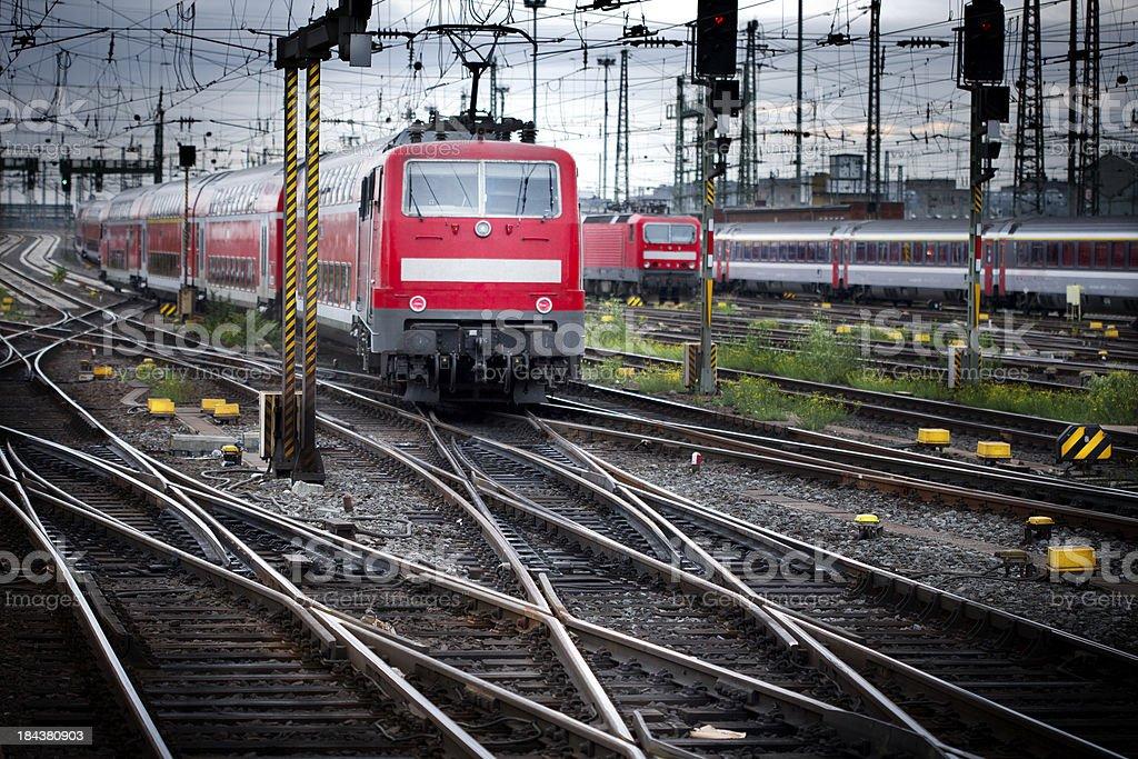Arriving train stock photo