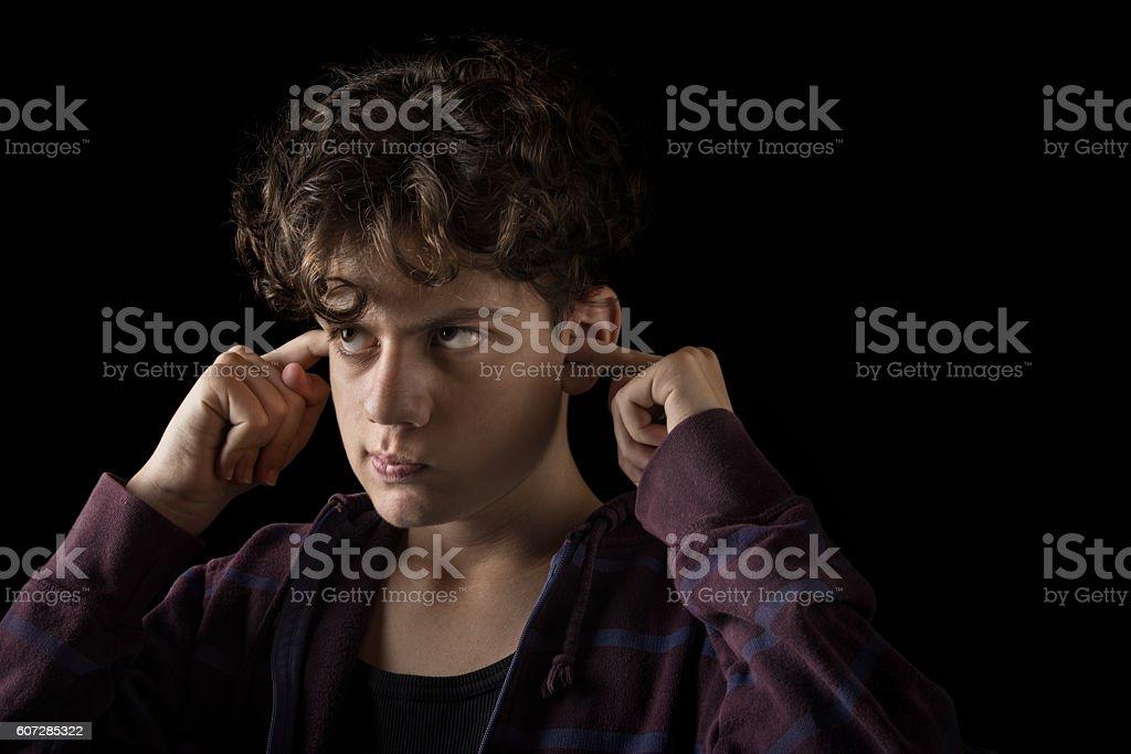 arrogant teenager stock photo