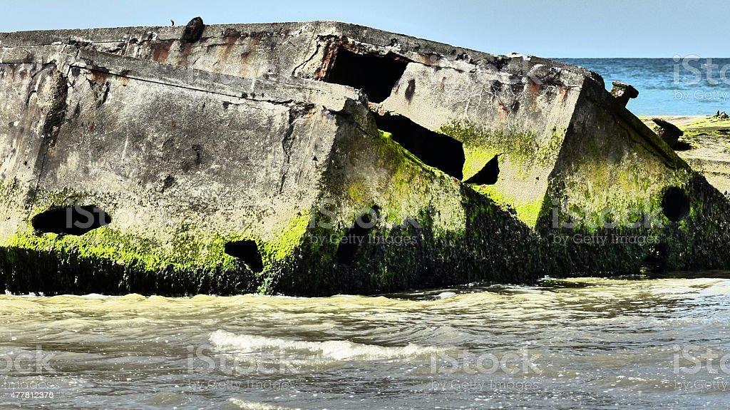 Arromanches - Caisson Phoenix stock photo