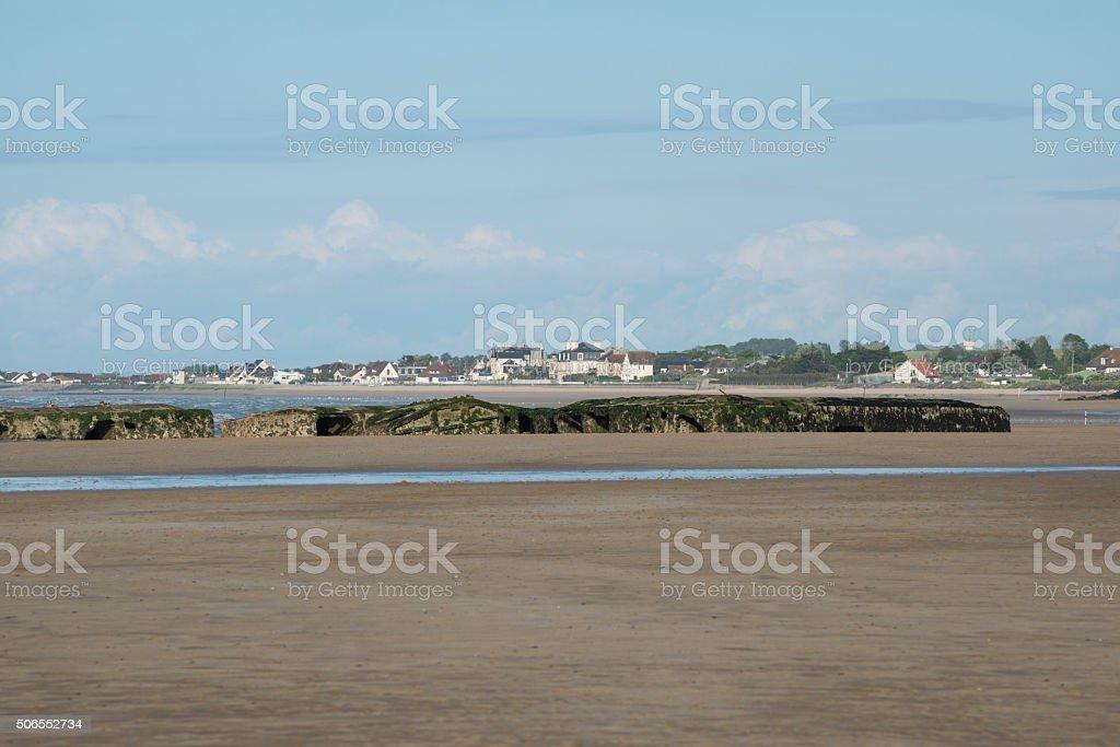 Arromanches, Normandy, France stock photo
