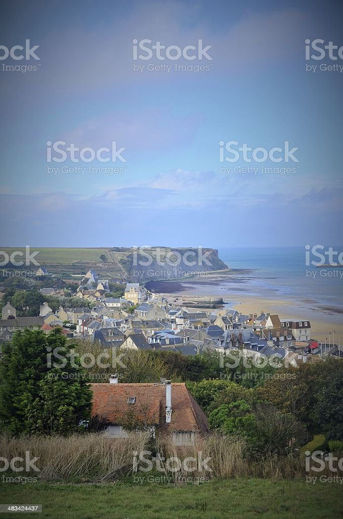 Arromanches-les-Bains - Gold Beach royalty-free stock photo