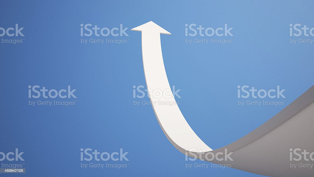 Arrow aspire to Sky with Clipping Path stock photo