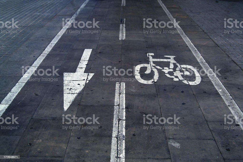 arrow & bike royalty-free stock photo