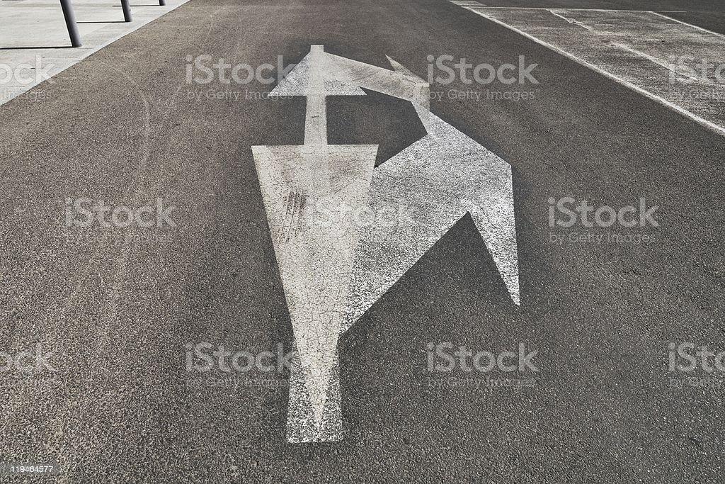 Arrow Confusion stock photo