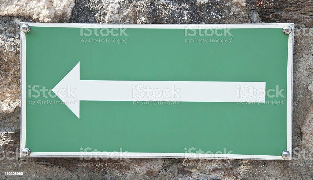 arrow directed toward left royalty-free stock photo