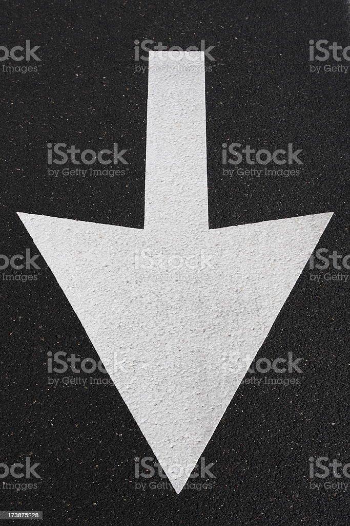 Arrow Direction Symbol Asphalt Road royalty-free stock photo